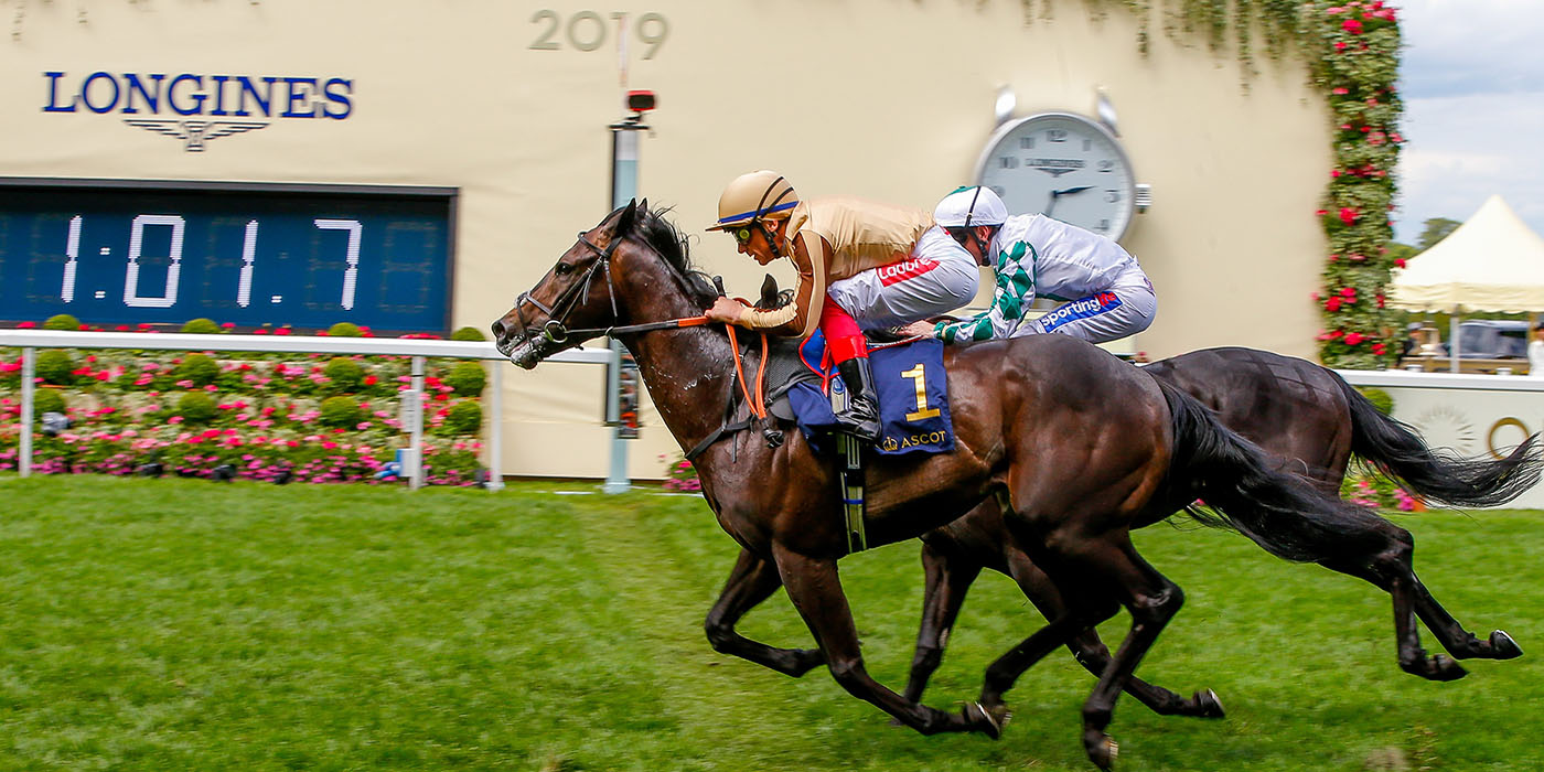 A'Ali winning the Norfolk Stakes at Royal Ascot,<br />one of three Group-2 wins this season