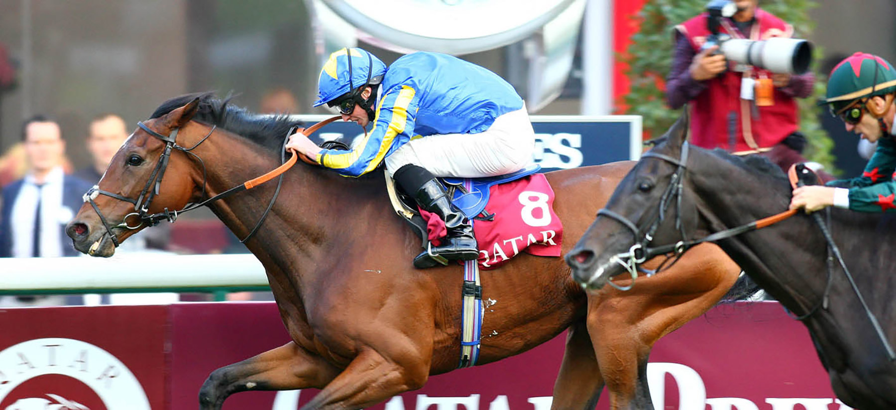 High Jinx winning the G1 Prix Du Cadran at Longchamp on Arc weekend