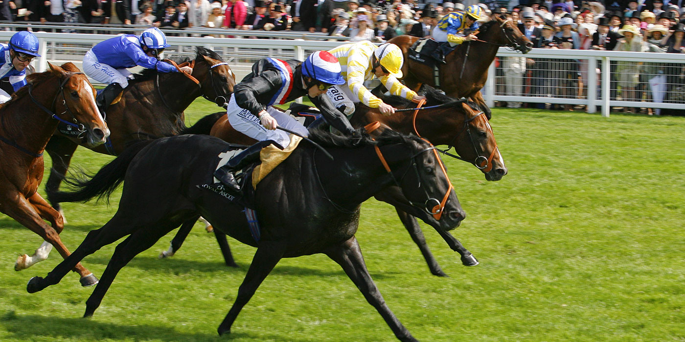 Society Rock winning the G1 Golden Jubilee Stakes at Royal Ascot